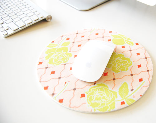 DIY covered mouse pad