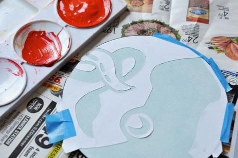 Hand printed DIY mouse pad