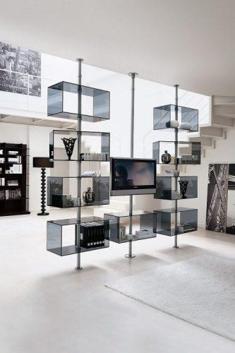 Domino TV stand ideas by T.Colzani for Porada