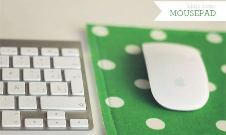 Fabric scraps DIY mouse pad