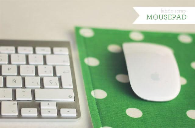 Fabric scraps DIY mouse pad