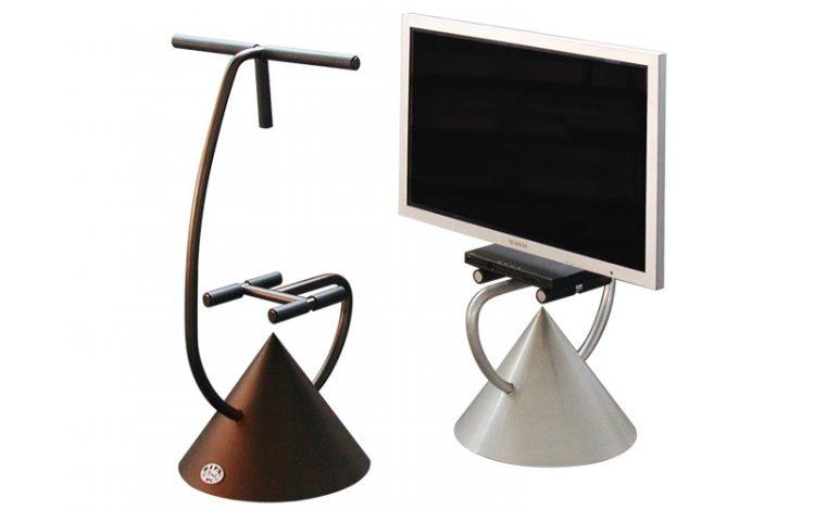Gym equipment TV stand ideas