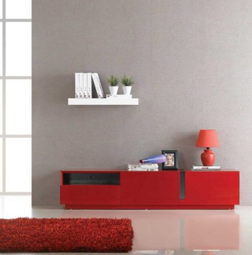 J&M furniture TV 027 red high gloss TV stand ideas