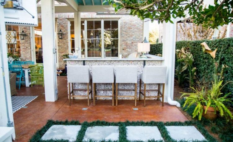 Mexican inspired outdoor wet bar ideas