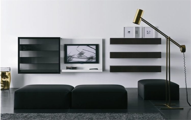 Modern living room TV wall mount ideas