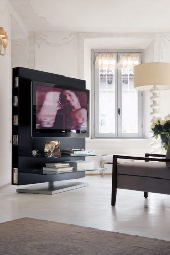 Porada floor-to-ceiling TV stand ideas