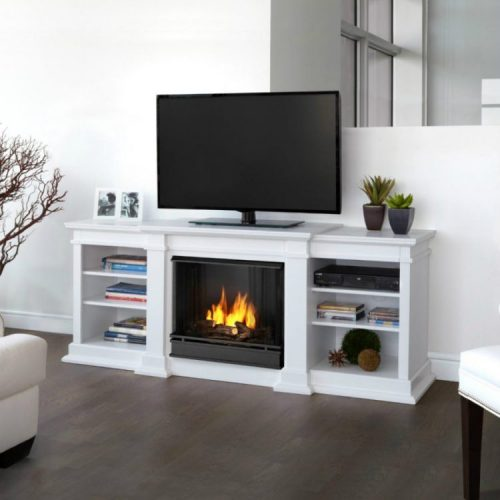 Real flame fresno 71-Inch gel fireplace media console TV stand ideas