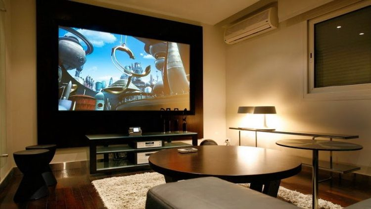 Stylish wooden TV wall mount ideas