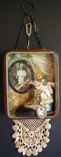 Vintage collectibles shadow box ideas