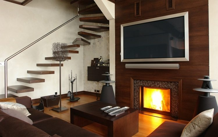 Wood wall mount TV ideas