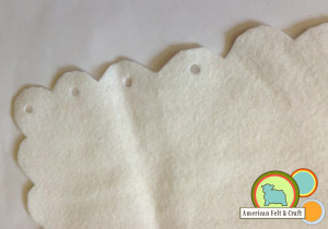 Monogrammed wool felt DIY mouse pad