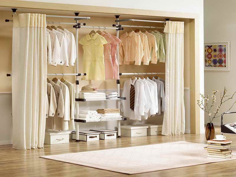 Curtains closet door ideas