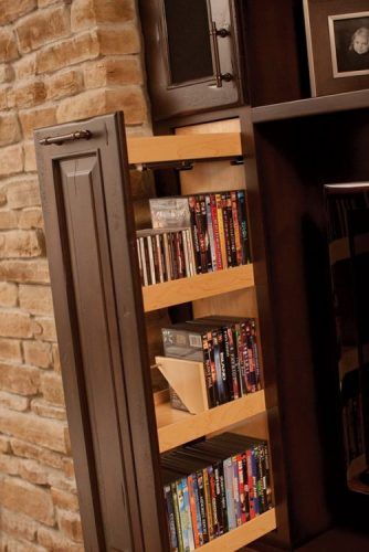 Adjustable DVD storage ideas
