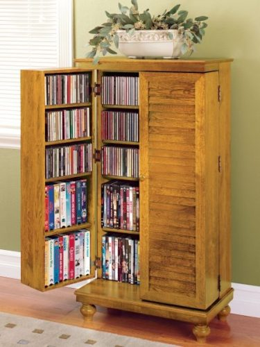 Compact cabinet DVD storage ideas