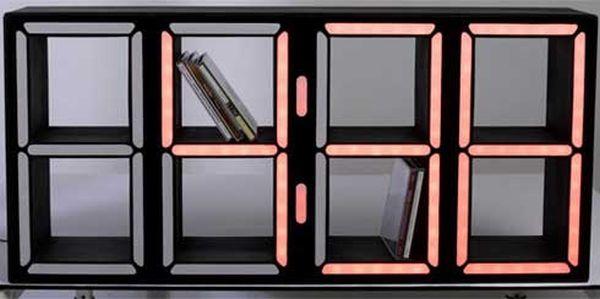 LED Clock DVD Storage Design Ideas