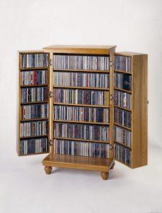 Solid hardwood DVD storage ideas