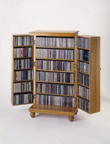 Solid hardwood DVD storage ideas