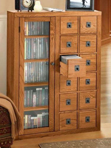 An elegant DVD storage ideas with traditional style
