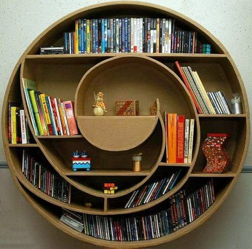 circular cardboard DVD storage ideas