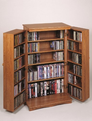 Classic mission style DVD storage ideas