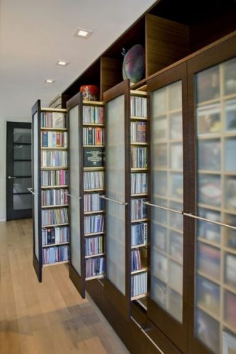pullout drawer DVD storage ideas