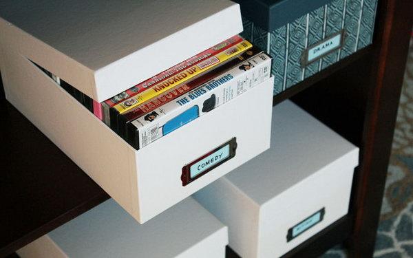 shoe box dvd storage ideas