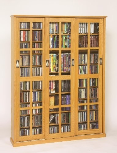 sliding door inlaid glass DVD storage ideas