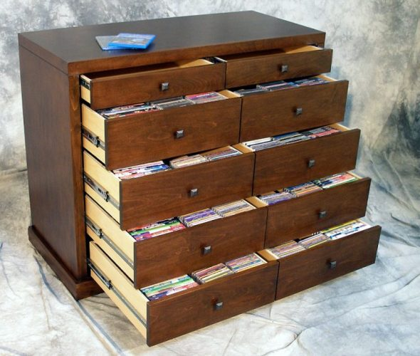Vintage Cabinet DVD Storage Ideas