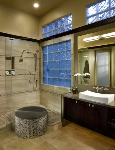 contemporary small bathroom remodel