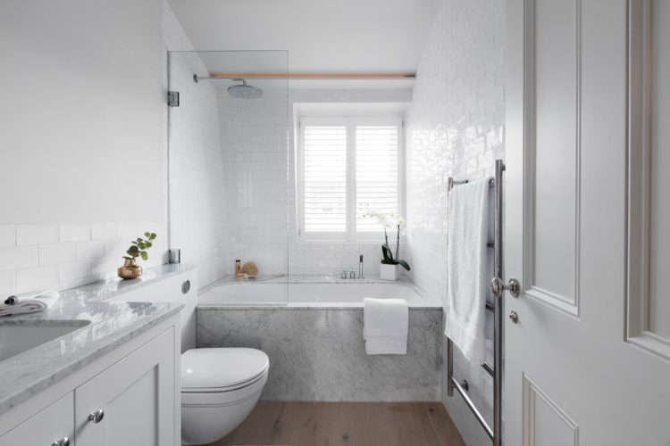 scandinavian small bathroom remodel