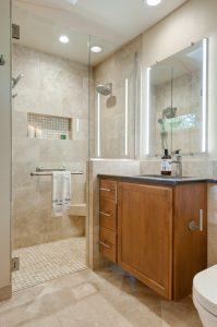 compact master small bathroom remodel