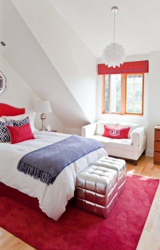 tween bedroom ideas in red and white