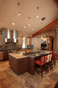 Multi Level Rounded Kitchen Island Ideas