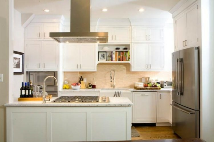 Use the space above kitchen island ideas