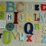 Alphabet wall art kids bedroom ideas 2