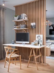 Design of an office and a children's room