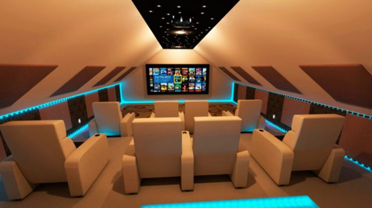 High Tech Style Home Theater Theme