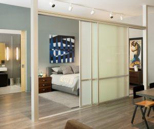 Industrial sliding bedroom divider Eric Straudmeier