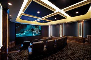 Ultra-Modern Home Theater Theme