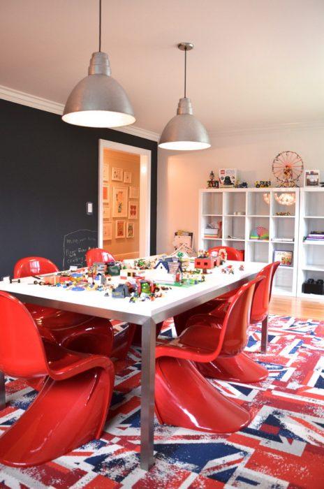 contemporary play zone bonus room ideas