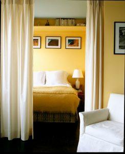 curtain bedroom divider Poul Ober