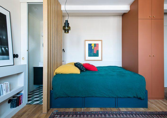 eclectic bedroom divider Patrick Sordoillet