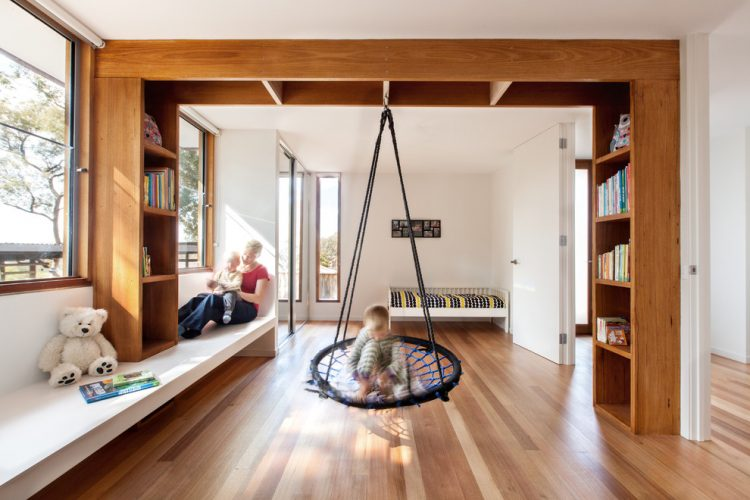 The child's playground and family space bonus room ideas