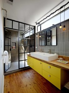 industrial bathroom divider