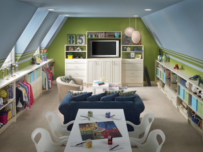 Study and play, kids zone bonus room ideas