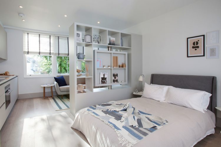 scandinavian bedroom divider Elayne Barre