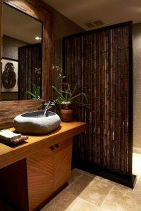 tropical bathroom divider ideas