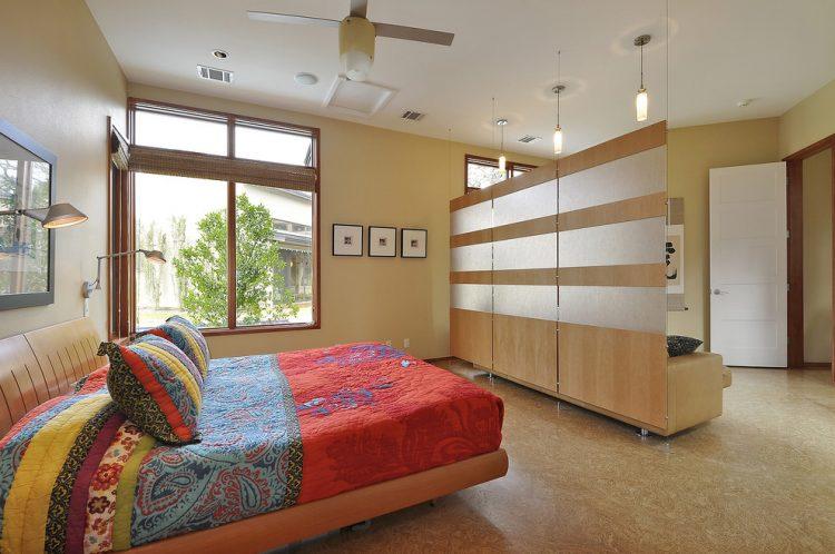 Westlake residence bedroom divider
