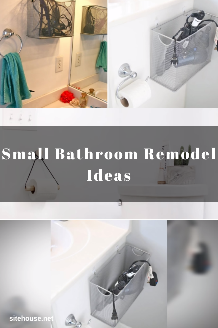DIY Appliance Storage for Small Bathroom Remodel