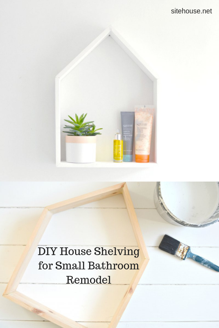 DIY House Shelving for Small Bathroom Remodel